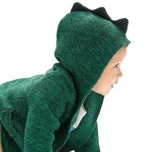 Baby Gap Boy Green Reptile / Lizard Sweater Jacket